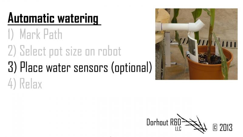 water sensors close up